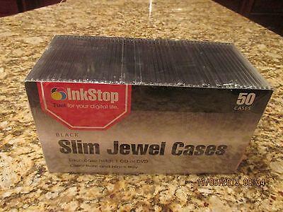 New In Package Cddvd Black Slim 50 Jewel Cases