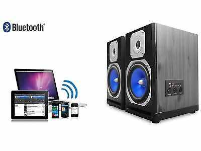 BLUETOOTH 600W USB SD MP3 PLAYER POWERED STUDIO SPEAKERS HOME SPEAKER SYSTEM NEW