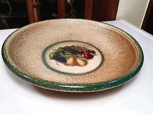 Vintage Monroe Salt Works Plate Fruit Design