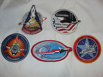 5 NASA Shuttle Mission Patches STS-1 STS-2 STS-3 STS-4 STS-5