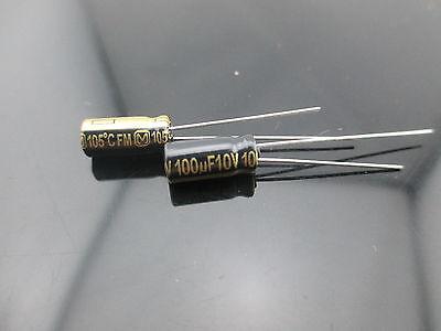 4pcs Japan Panasonic Fm 100uf 10v 100mfd Impedance Electrolytic Capacitors