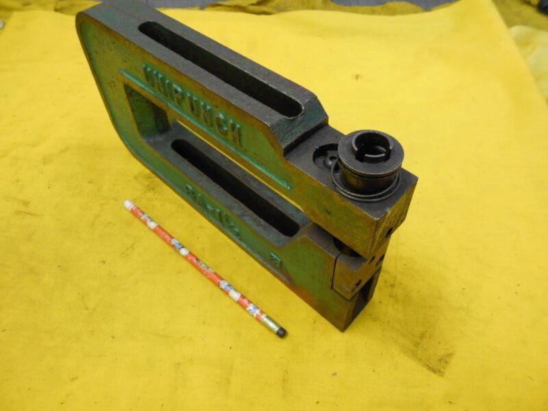 C FRAME PUNCH sheet metal hole press brake tool unit UNIPUNCH USA 8A 1 1/2