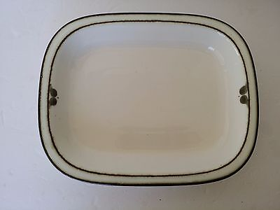 RORSTRAND SVERIGE SWEDEN NORDICA RECTANGULAR BAKER CASSEROLE DISH BOWL BROWN