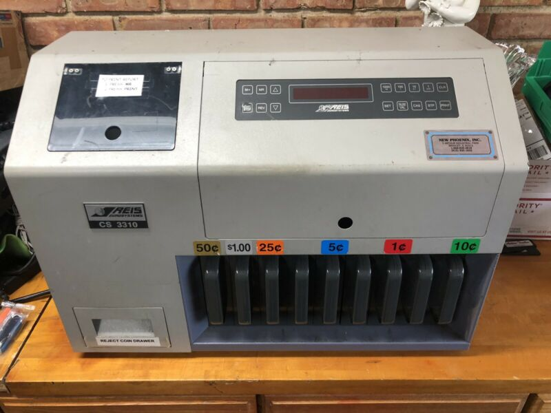 REIS EUROSYSTEMS CS 3310 Electric Coin Counter/Sorter klopp