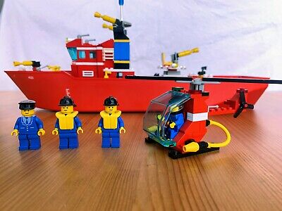 Vintage Lego 4031, Fire Rescue Boat, 1991, Rare, 100% Complete With Instruct