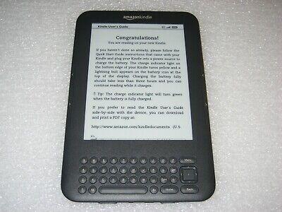 "*Ads Free* Amazon Kindle Keyboard 3, Wi-Fi, 6"", 4GB, D00901, 3rd Generation"