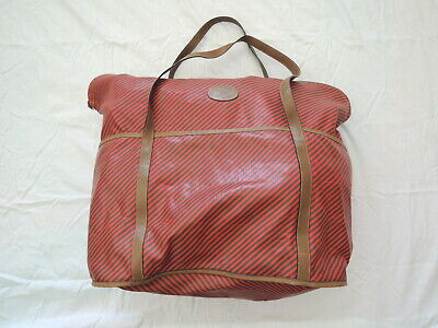 Vintage GUCCI Red and Green Striped Soft GG Oversize Tote Bag