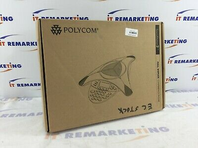 Polycom Soundstation 2 2201-16200-601 Conference Phone W Wall Module Cables