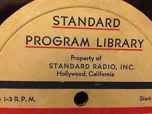 Standard Radio Transcriptions On CD 1933-1941