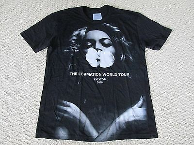 New Authentic Beyonce Formation World Tour Merch Orchid Tour Date Tee Shirt Sz L