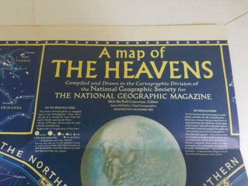 VINTAGE A MAP OF THE HEAVENS December 1957 National Geographic