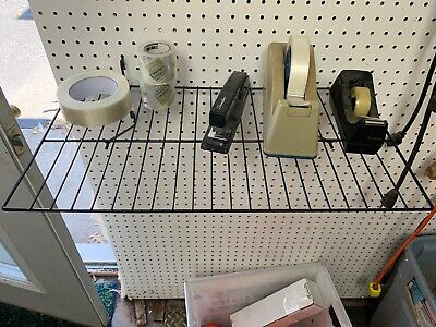 1 Double Shirt Shelf Fits Slat Grid Pegboard Black 22wx12d 1 Shelf New