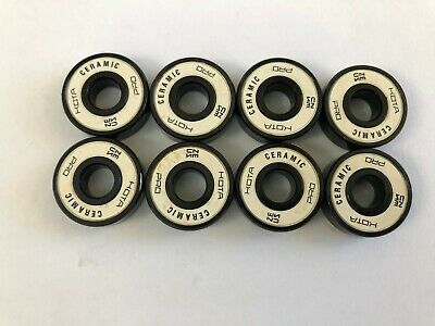 8 Pcs 608 Ceramic Skate Bearings 8x22x7mm Si3n4