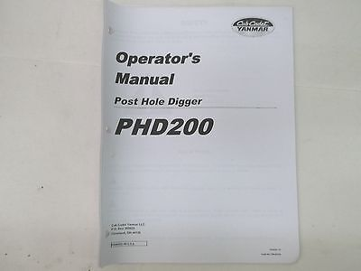 Cub Cadet Yanmar Phd200 Post Hole Digger Operators Manual