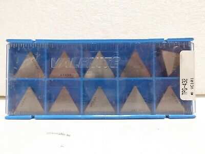 Valenite Tpg-432 Vc101 Carbide Inserts 10 Nos Nib Open Box Free Shipping
