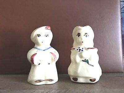 Vintage Japanese Porcelain Salt or Pepper Shaker boy statuette kitchen table figure Collectible Salt Shaker Single Salt Shaker
