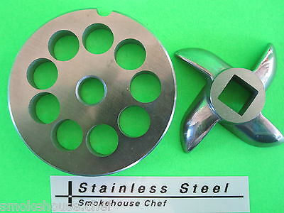 Size 8 X 12 Meat Grinder Plate Knife For Manual Or Electric Fits Lem Etc