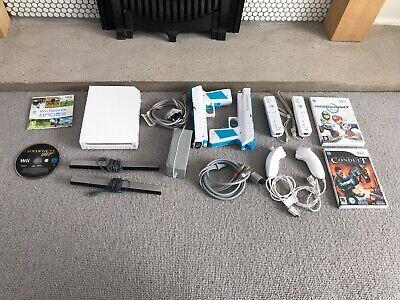 Nintendo Wii Console Bundle- Controllers Mario Kart, 007 Golden Eye, Sports etc