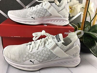 NIB PUMA IGNITE EVOKNIT Lo MEN'S  SHOES White BEST SELLER Lightweight Running (Best Puma Shoes For Men)