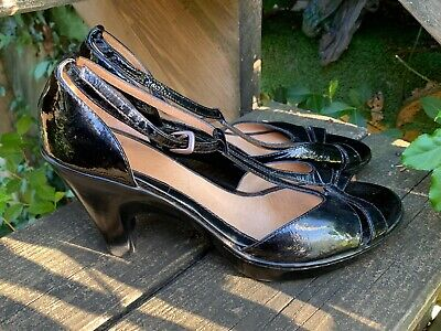 Size 17 High Heels (SALE @ SOFFT Patent Leather Pumps High Heels Slingbacks Peep Toe  Sz 10)