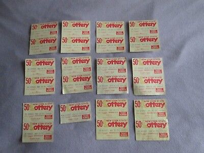 23 New York State Vintage Lottery Tickets 1973 Collectible Rare