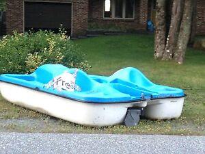 Free paddle boat