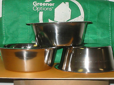 Bowl, STAINLESS STEEL, 1 PINT, Cereal, Dog, Cat, Soup, Food Prep, Mixing, Flower
