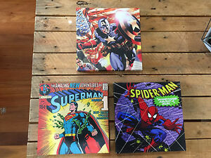 3 comic book / superhero prints for boys room, etc Arana Hills Brisbane North West Preview