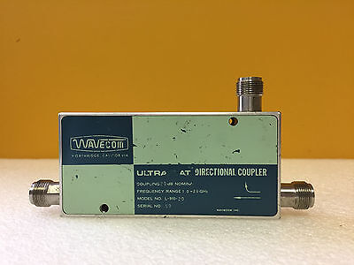 Wavecom L-910-20 10 To 20 Ghz 20 Db Type N F Flat Coax Directional Coupler