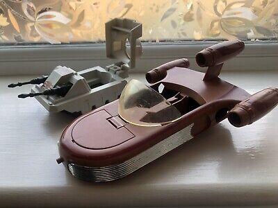 Vintage Star Wars LANDSPEEDER And Tank Kenner Toy Vehicle