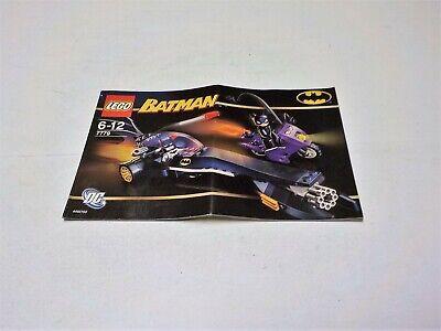 Lego DC Set 7779 Instruction Manual only for Batman Dragster Catwoman Pursuit