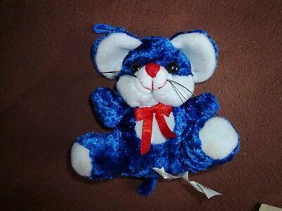 süße blaue Maus Mäuschen zum Valentienstag Geburtstag Weihnachen