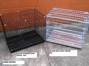 NEW Lge Collapsible Metal Pet /Dog Puppy Cage Crate- METAL TRAY Kingston Logan Area Preview