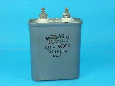 Sprague 4uf 400 Vdc Vitamin Q 27jp104 Hermetically Sealed Oil Capacitor