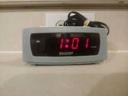 Sharp Digital LED Alarm Clock with Snooze (Cool Blue, Model SPC054) NICE RARE