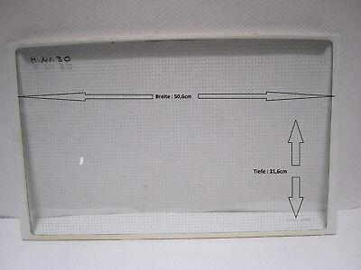 Kühlschrank Glasplatten (Einlegeboden) Mit Leiste Tiefe 31,6cm Breite 50,6cm
