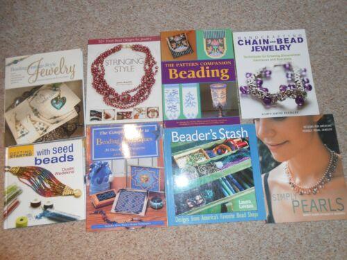 Large Lot Beading / Jewelry Make books (8)