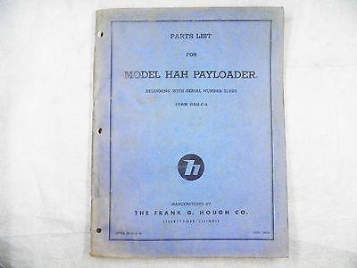 Ih Hough Hah Payloader Parts Manual Oem 51929-up