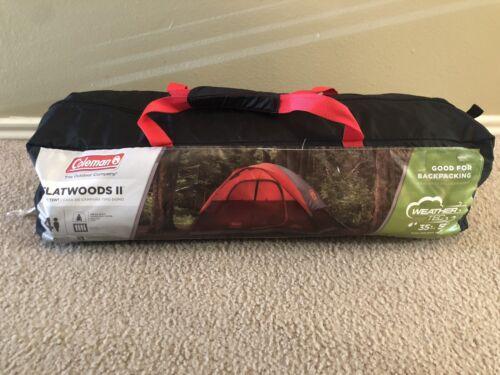 Coleman Flatwoods II 4-Person WeatherTec Dome Tent Camping Hiking Waterproof