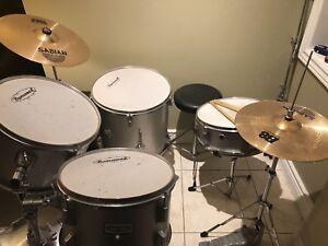 Burswood Drum set and Sabian cymbals