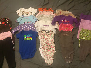Baby girl lot of clothing NB-6m