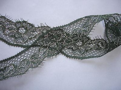 10m feine Spitze 0,40€/m grün 3cm breit  KA322