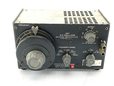 General Radio 1210-c Unit Oscillator