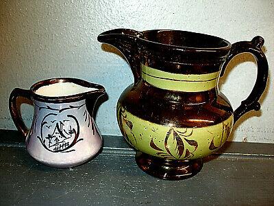 Rare 19th Century Handpainted English Copper Lusterware Teapot