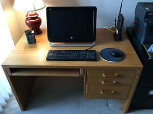 Solid wood desk North Shore Greater Vancouver Area image 1