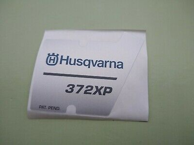 HUSQVARNA RECOIL STARTER DECAL FITS 372XP SAWS 537230201 OEM