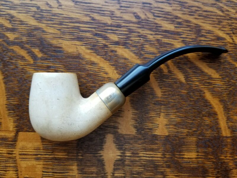 Peterson Meerschaum large 307 smooth bent billiard p-lip Pipe #009