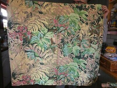 Vintage fully lined Liberty OF London Oberon cotton fabric curtains.