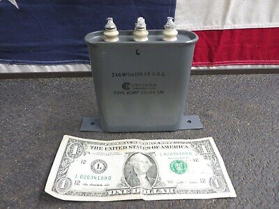 Chicago Condenser Corporation Oil Capacitor 5000 Vdc Type Cmp 2x304 5m