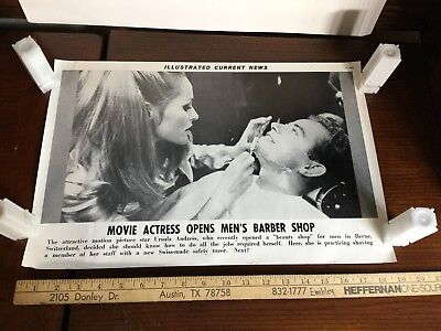 Illustrated Current News Photo - Ursula Andress Actress Barber Shop Switzerland